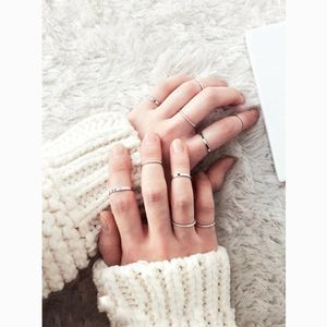 Spiral Design Slim Midi & Knuckle Ring Set